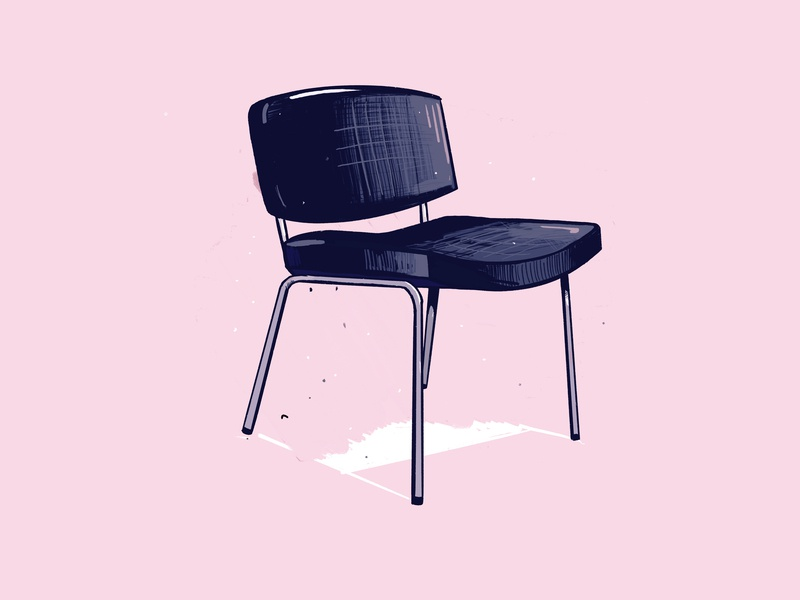 Procreate sketching practise: day 2 chair procreate