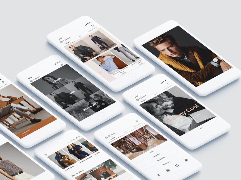 Massimo Dutti App Scene ux designer massimo dutti minimalism simple design verkhouse visual design uidesign ux design