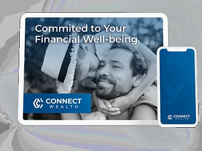 Connect Wealth Brand Development ux animation photography logo webdesign minimal identity digitalmarketing identity design branding