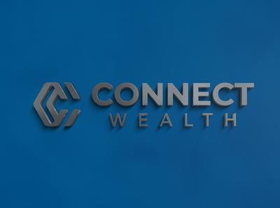 3D Logo Mockup Connect Wealth Signage
