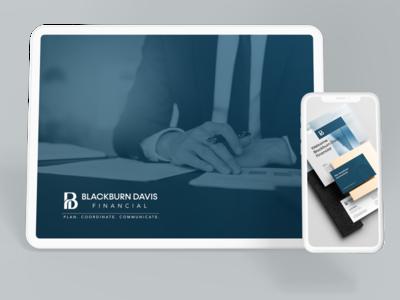 Blackburn Davis Financial Rebranding logo design blackburn davis illustration logo design digitalmarketing branding rebrand brand strategy identity