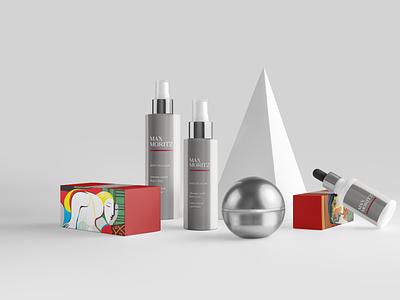 Max Moritz | Cosmetics packaging design illustration logo photography identity branding