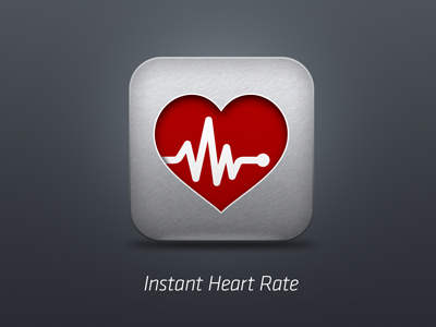 Instant Heart Rate app icon app icon iphone heart rate monitor instant heart rate azumio