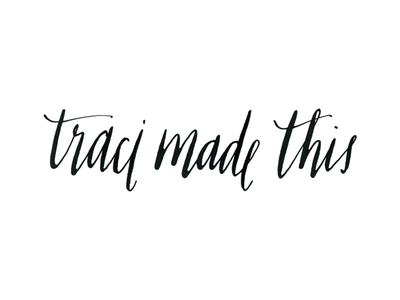 traci made this (XL mark) calligraphy lettering logo