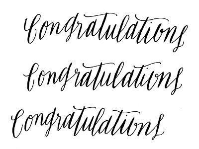 congratulations calligraphy scan script