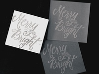 Merry and Bright (stamp, BW)