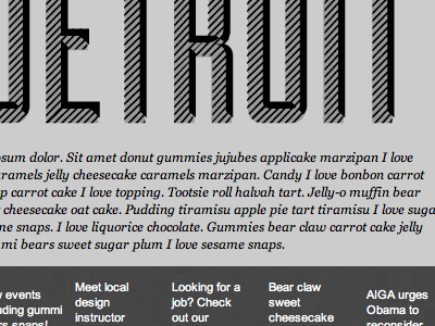 AIGA Detroit Email Newsletter (greyscale frame up)