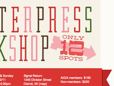 Letterpress Workshop Event Email