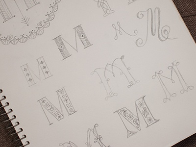 MMMMMore sketch embroidery embroidery pattern m monogram sketching