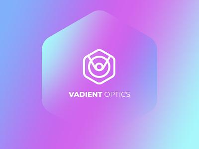 Vadient Logo optics optical nanotechnology nano technology vector logo illustrator illustration graphic design design business branding
