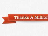 Thanks A Million Ribbon