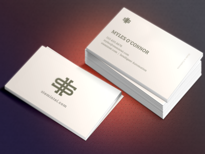 Business card concept icon intel card business logo