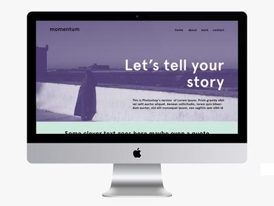 Homepage Momentum Agency