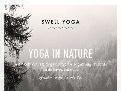 Flyer Swell Yoga By Maja Molire  Dribbble