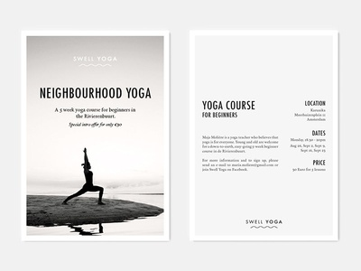 Final Flyer Design Swell Yoga by Maja Molière - Dribbble