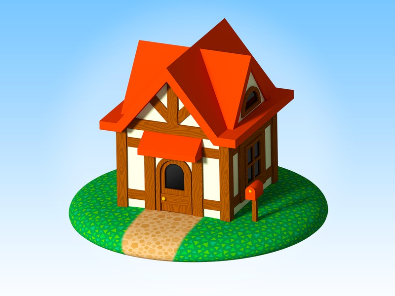 Animal Crossing Inspired House By Ra Design On Dribbble