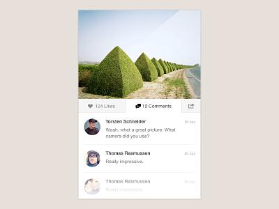 Widget widget photo practise avatar comments