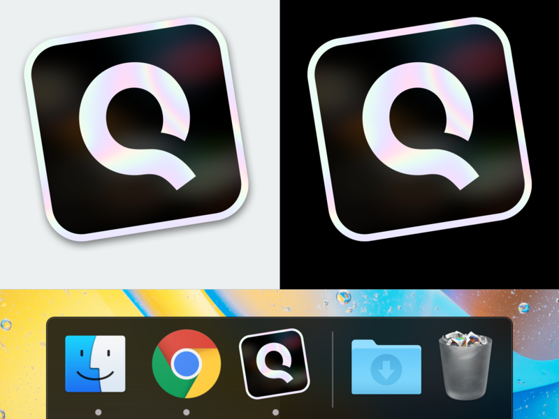 CLINQ.ai macOS Icon phone holographic clinq sipgate dock icon apple