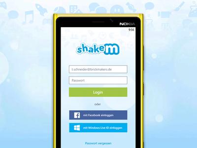 shakem Login Screen for Windows Phone windows mobile windows phone microsoft windows 8 nokia lumia