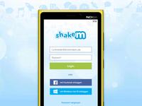 shakem Login Screen for Windows Phone
