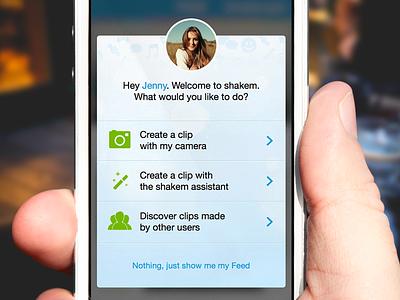 shakem Mobile: Welcome Overlay welcome start shakem ios apple ui iphone