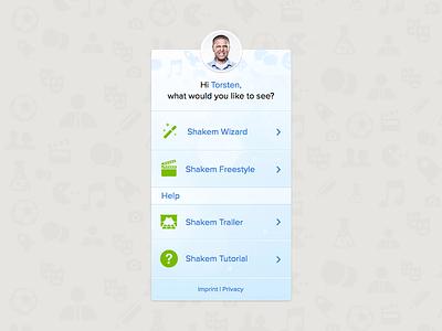 Shakem Sidebar v2 sidebar user icons ui profile picture welcome