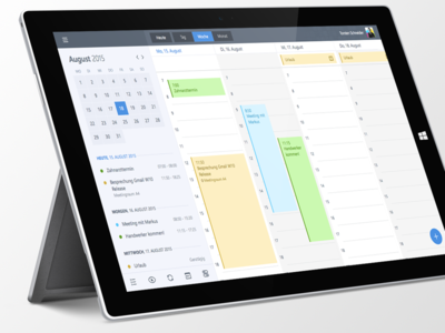 Gmail Calendar for Windows 10 Preview modern ui flat microsoft windows 10 calendar google