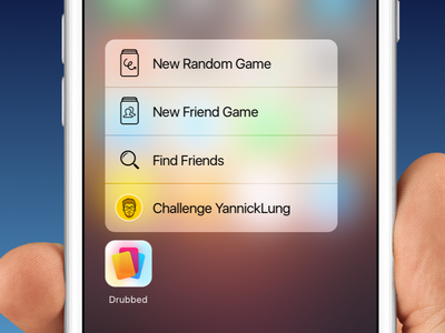 Quick Actions for Drubbed iphone icon design ios apple 3d touch