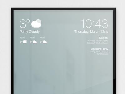 Smart Mirror UI ui gadget rasberry pie smart mirror