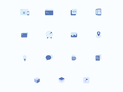 BRICKMAKERS Iconography 2017 browser web webdesign vector svg icons