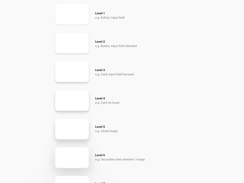 Shadows - Design System development css styles style guide shadows styleguide design system website web design search saas