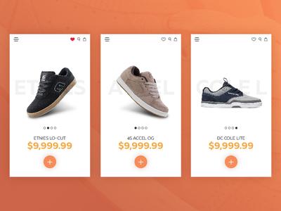 Ecommerce Skate Shop - UI Concept
