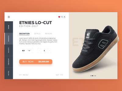 Ecommerce Skate Shop - Concept UI