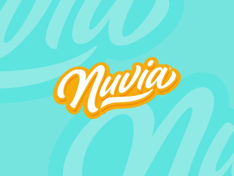 Nuvia® Logo Proposal logo design lettering funny vector typography type design branding logotype logo