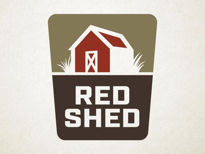 Red Shed Logo logo design industrial barn brown tiny house tinyhouse farm shed red badge branding logo