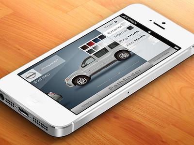 Nissan 360 ui ux mobile nissan automotive car iphone app application