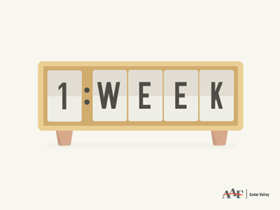 Clock Countdown - 1 Week iowa american advertising awards aaa aaf social timer countdown clock