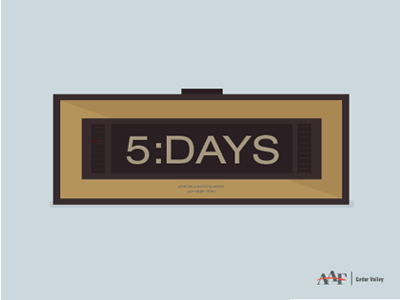 Clock Countdown - 5 Days iowa american advertising awards aaa aaf social timer countdown clock