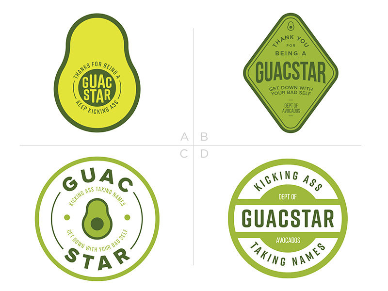 Thanks for Being a Guacstar food vegetable green badge sticker pun guacamole avocado guac guacstar rockstar