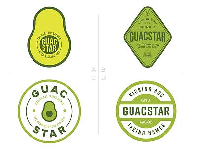 Thanks for Being a Guacstar food vegetable green badge sticker pun guacamole avocado guac guacstar rockstar