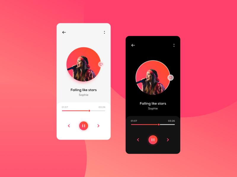 Music player app design web design motion iphone profile graphics icons mobiles social app gradient illustration typogaphy ios ux ui trend2019 music app mobile app minimal android app application