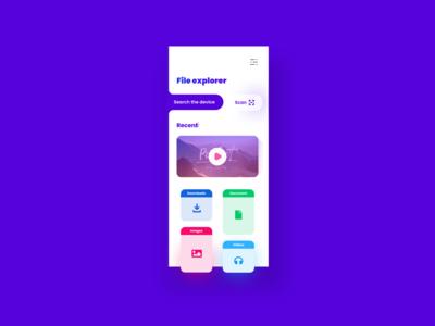 File Manager  App #2 iphone x web vector illustration typography design branding application app ui ux minimal gradient