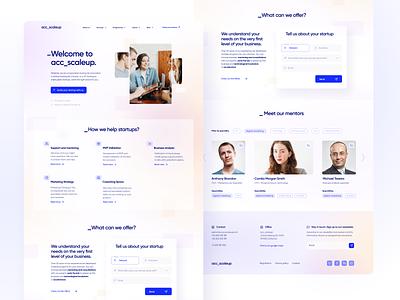 Startup Accelerator - Landing Page entrepreneur tags color landing page business form accelerator startup web website web design gradient design ux ui