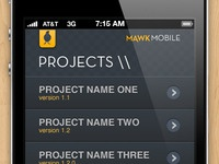 MawkMobile App Projects Screen