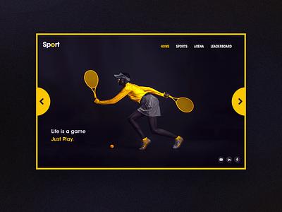 Tennis Landing Page web ui design uitrends uidesign inspiration uxui ui landing landingpage webdesign sports sport tennis