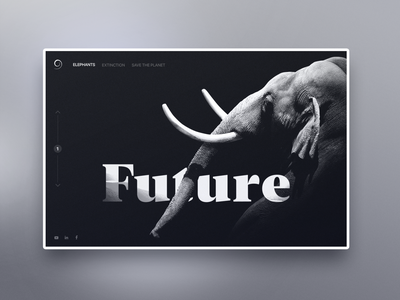 Future Elephant Web Design webdesign landingpage uxdesign ui design uidesign website design gray minimal elephant ux uxui ui web website web design