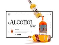 Alcohol Shop Web Inspiration Design