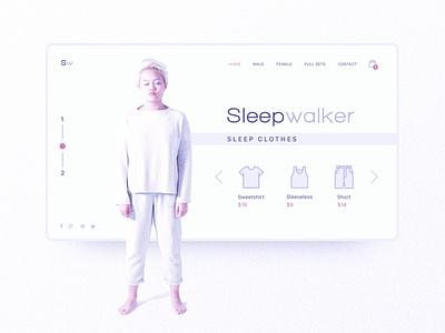 Sleepwalker Minimal Inspiration Web Design whitespace ux  ui ux design uxui web design website design website webdesign user interface ui design uxdesign ux uitrends uidesign interactiondesign designinspiration ui web interaction inspiration