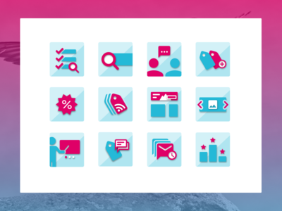New icons set for PrestaShop's native modules