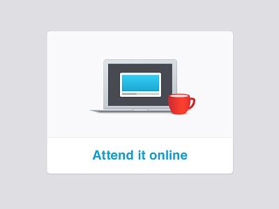 Webinar illustration xero laptop coffee cup webinar online illustration shadow